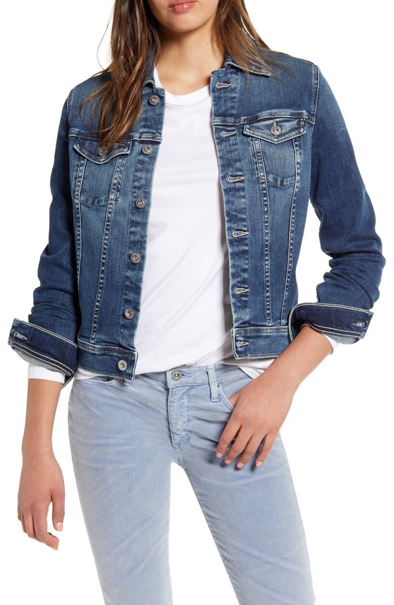 AG Robyn Denim Jacket, Main, color, BLUE STRIKE