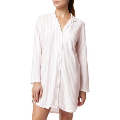 The White Company Brushed Cotton Nightshirt, Pink