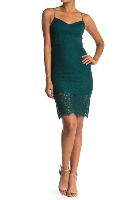 Image of Lush Sweetheart Lace Sheath Dress