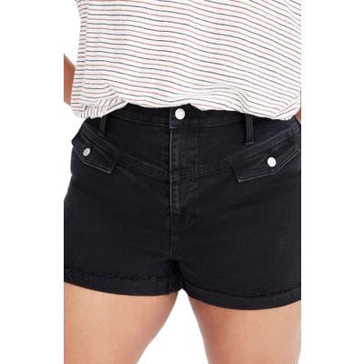 Madewell Western Yoke Edition High Waist Denim Shorts, Black