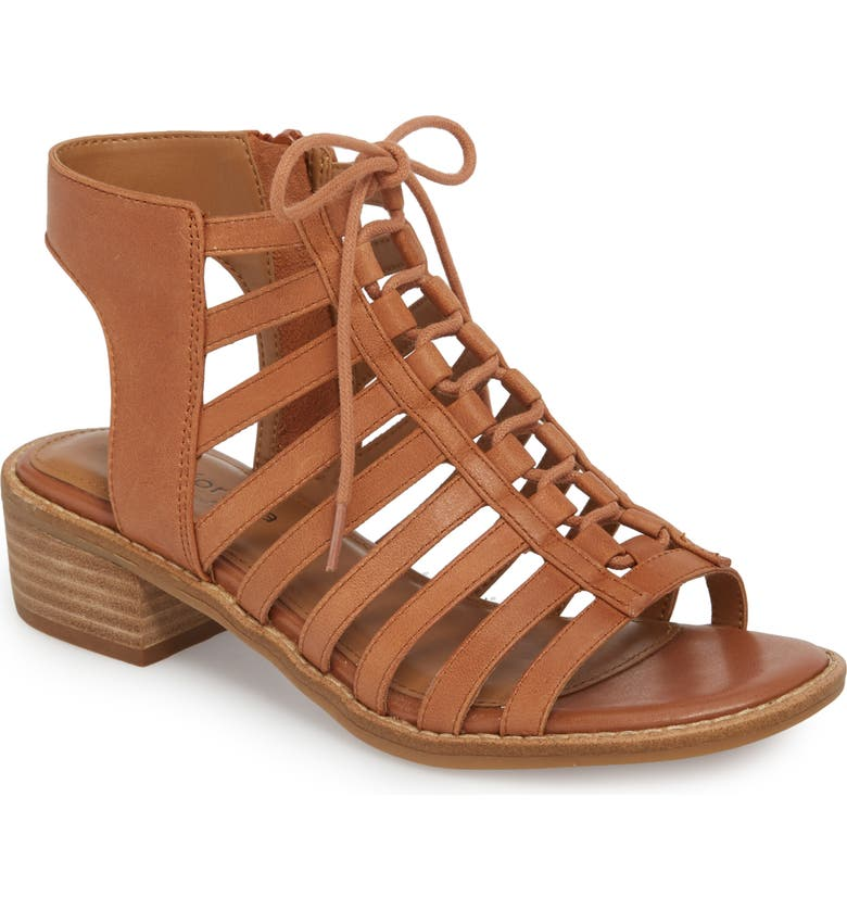 COMFORTIVA Blossom Sandal, Main, color, WALNUT LEATHER