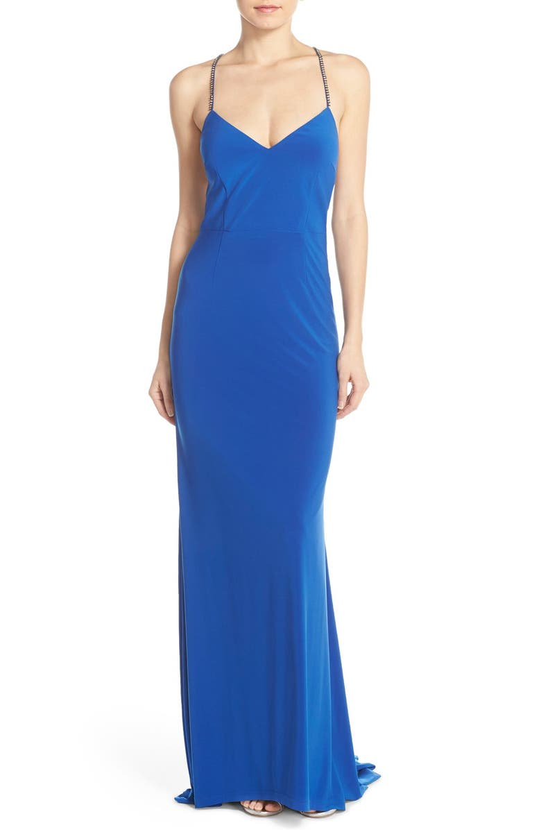 ADRIANNA PAPELL Bejeweled Jersey Gown, Main, color, 433