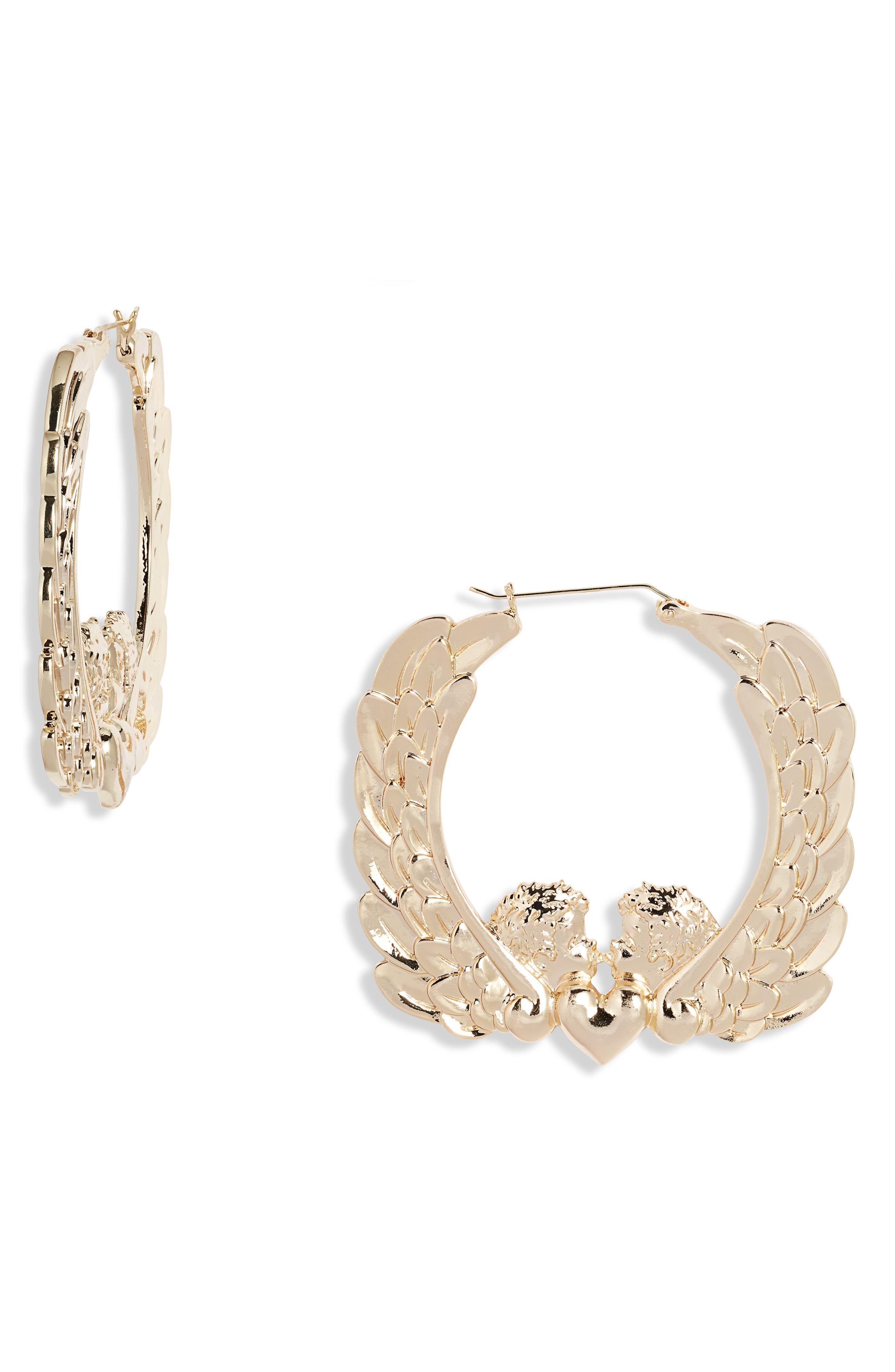 Cherub Hoop Earrings