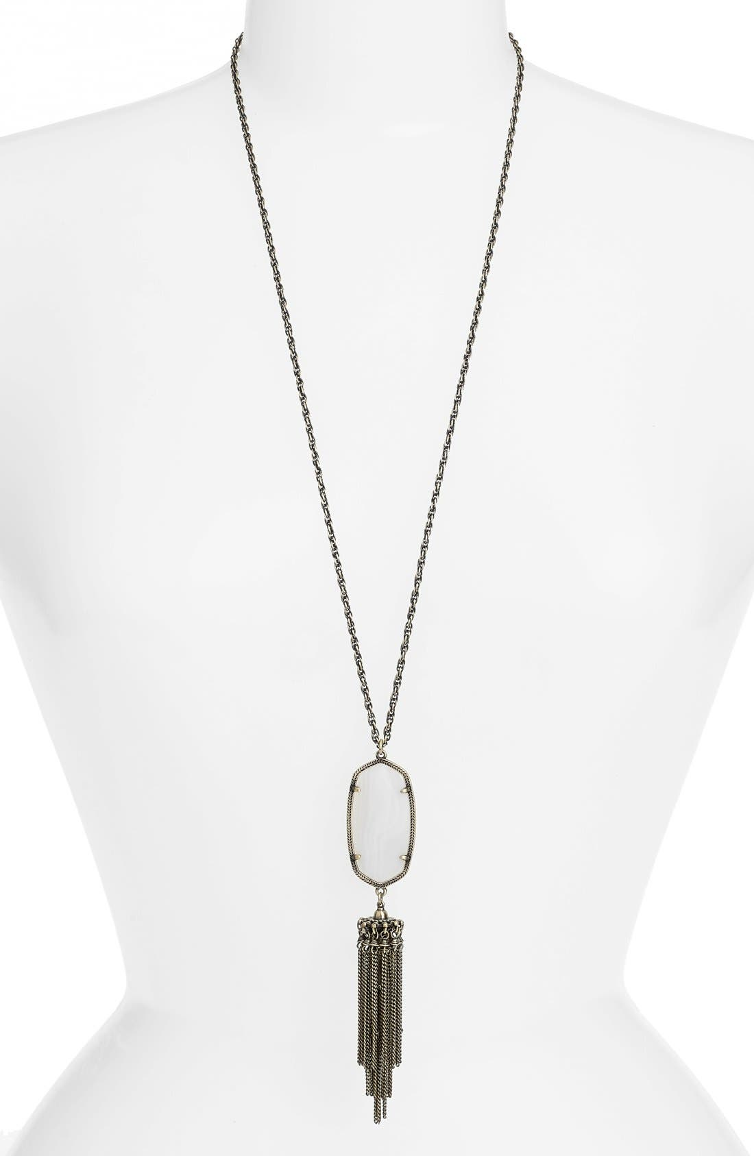 ,                             'Rayne' Tassel Pendant Necklace,                             Main thumbnail 21, color,                             105
