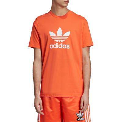 Adidas Originals Trefoil Graphic T-Shirt, Orange