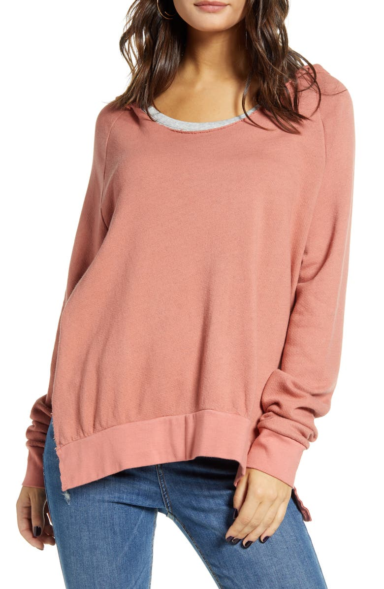 PROJECT SOCIAL T High Tide Hoodie, Main, color, SPARKLING MAUVE