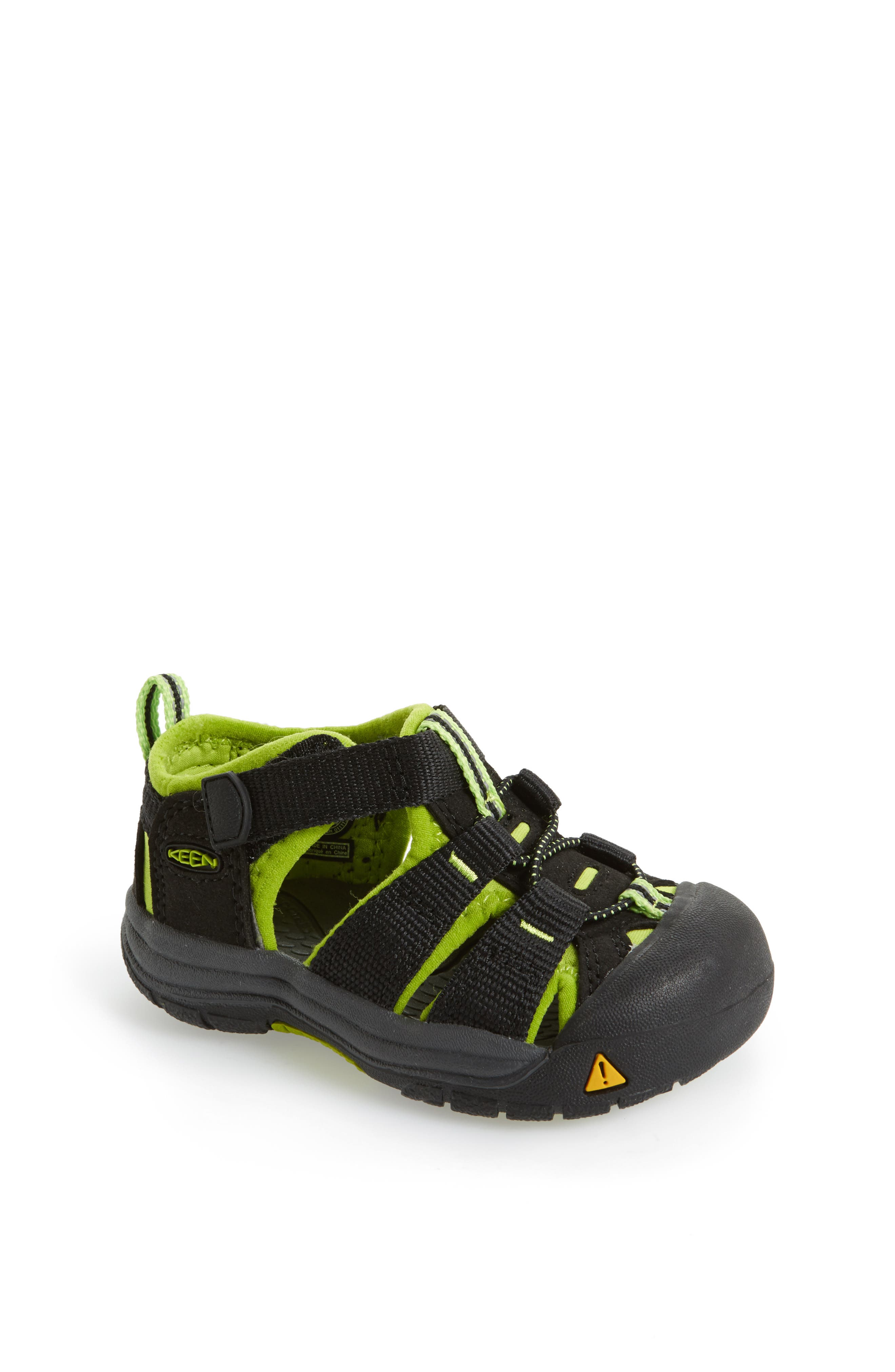 'Newport H2' Water Friendly Sandal, Main, color, BLACK LIME