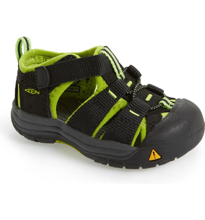 KEEN Newport H2 Water Friendly Sandal, Main, color, BLACK/ LIME GREEN