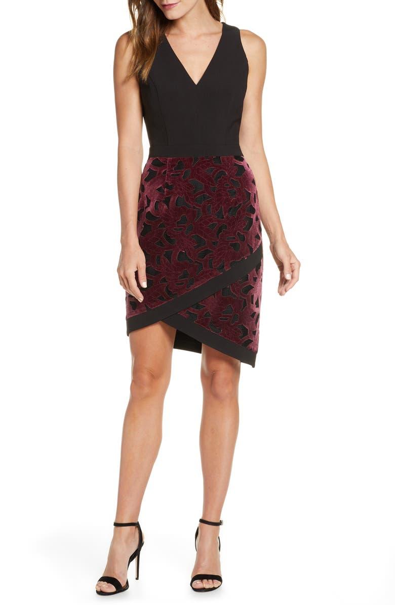 ADELYN RAE Skyla Mixed Media Dress, Main, color, 506