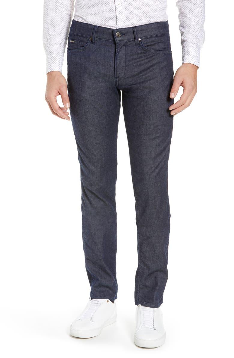 BOSS Delaware Slim Fit 5-Pocket Jeans, Main, color, 410