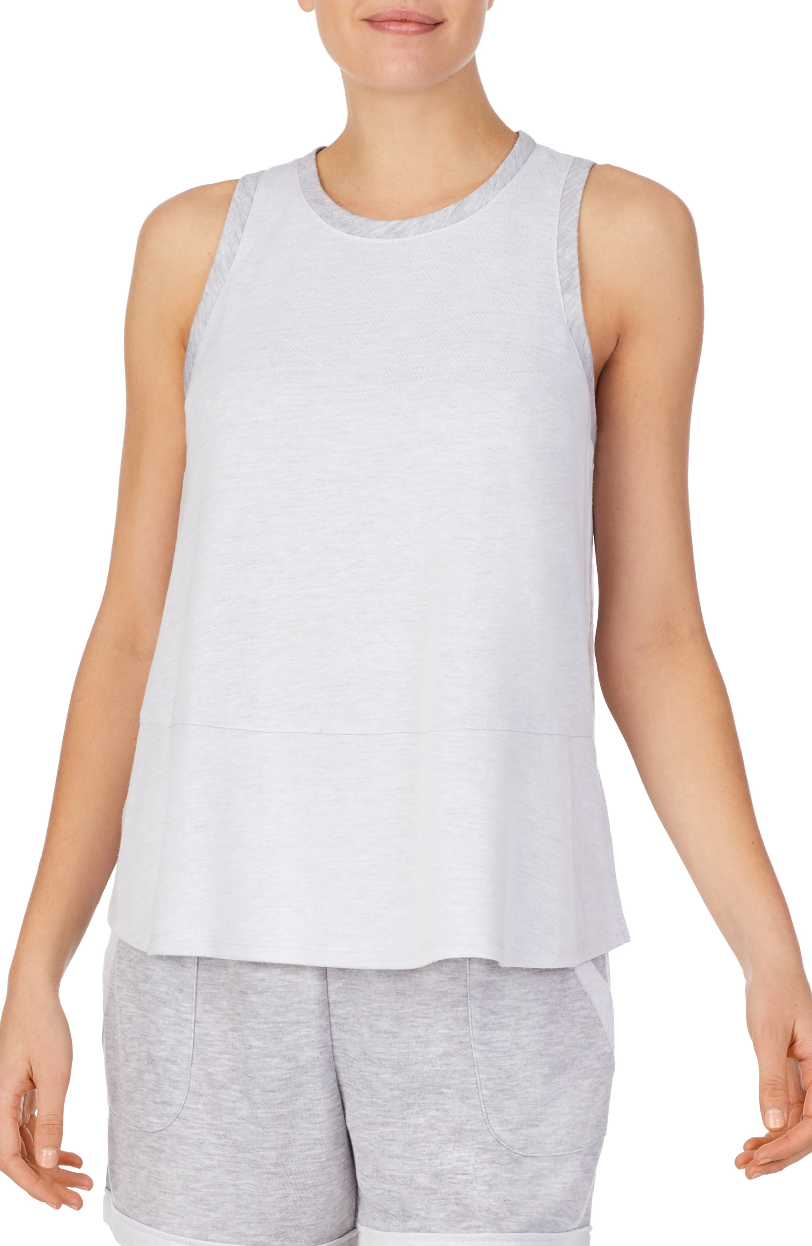 Image of Refinery29 High Neck Double Knit Tank