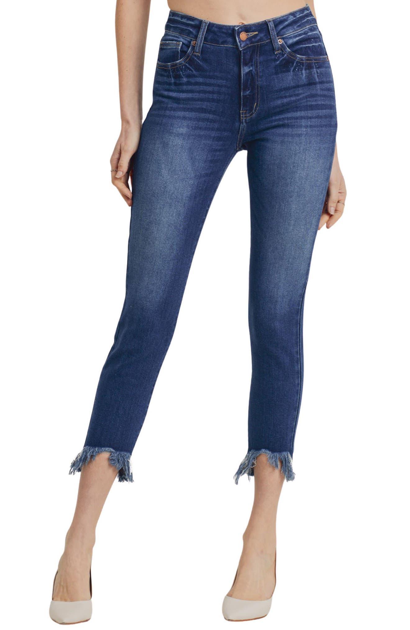 Verona Scoop Hem Ankle Skinny Jeans