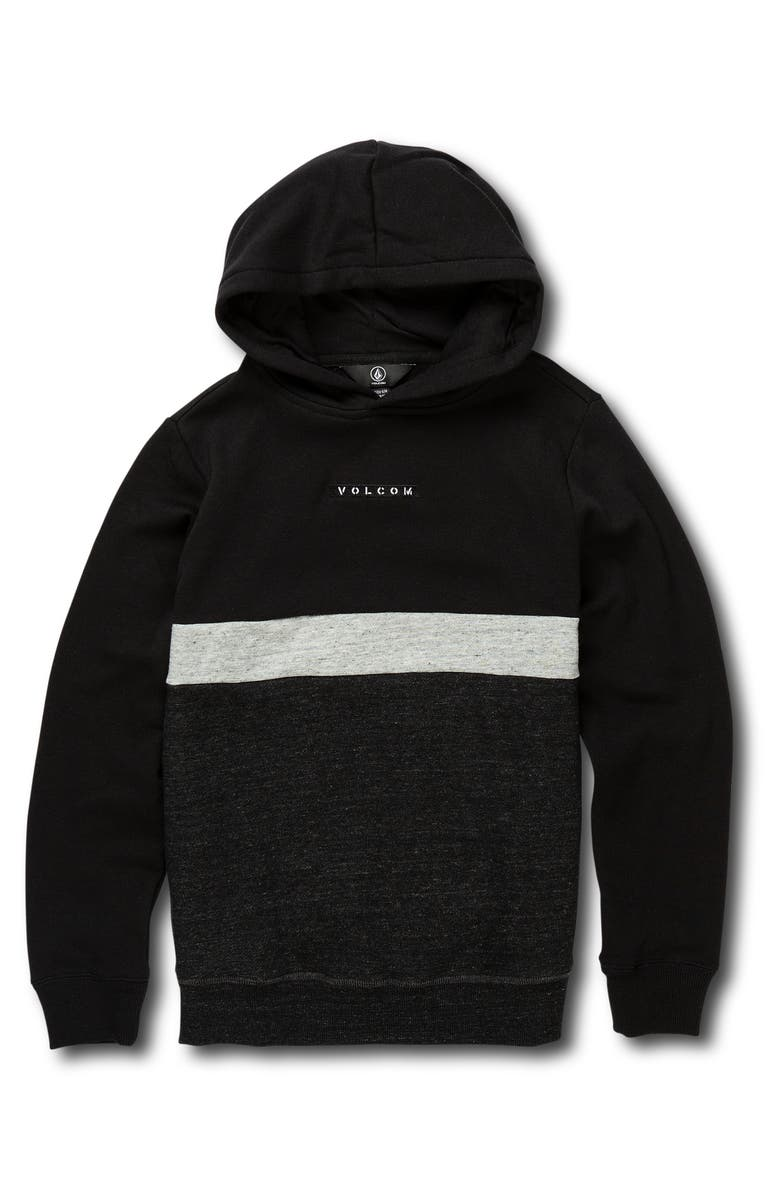 VOLCOM Hooded Sweatshirt, Main, color, BLACK
