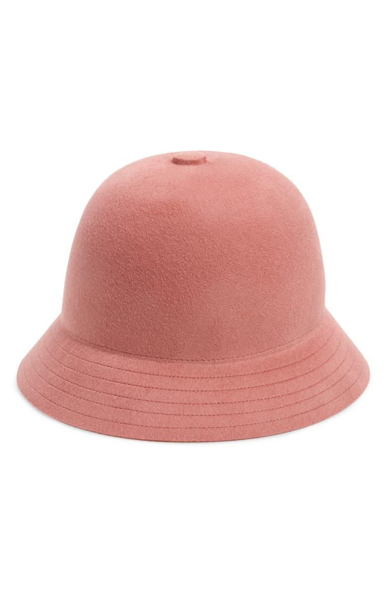 BRIXTON Essex Wool Felt Bucket Hat, Main, color, DUSTY ROSE