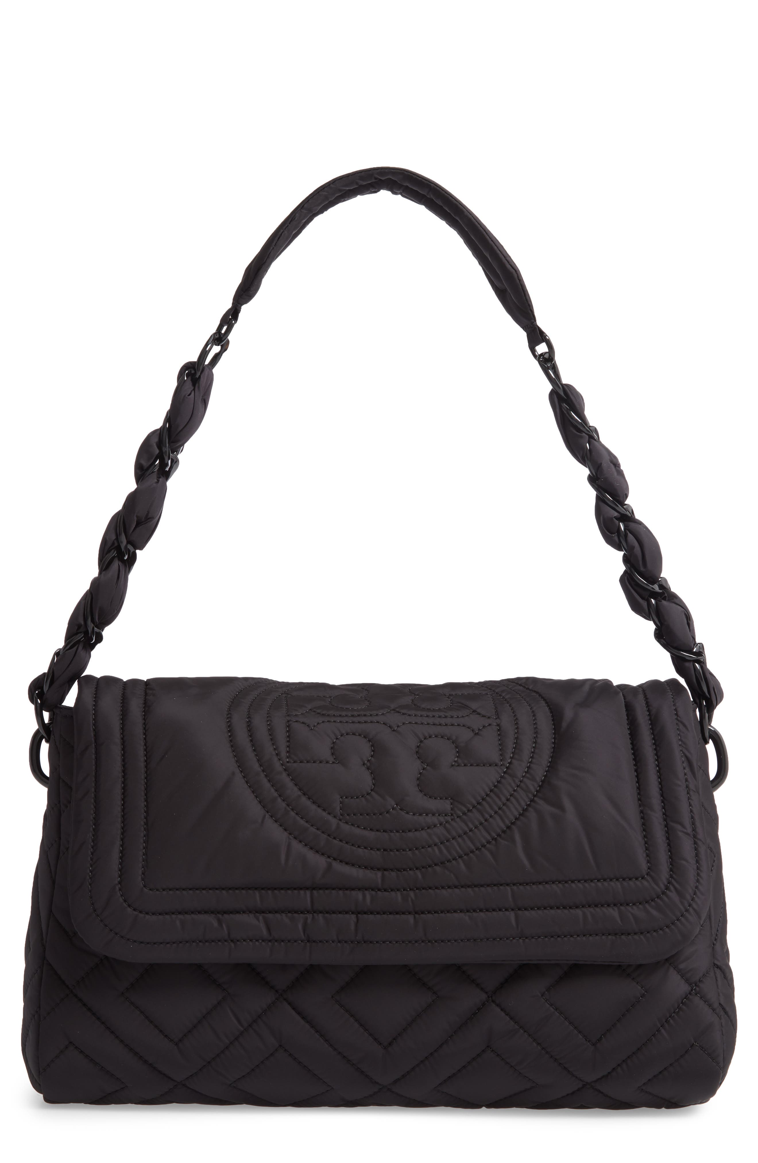 Tory Burch Small Fleming Quilted Nylon Shoulder Bag