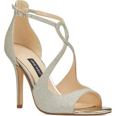 Nine West Giaa Strappy Sandal- Metallic