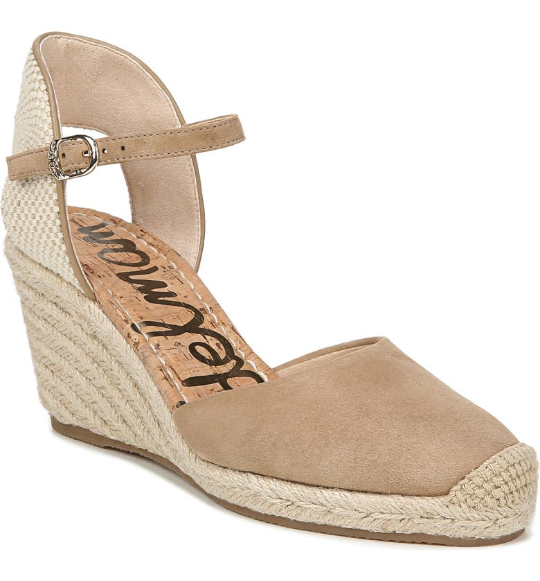 SAM EDELMAN Payton Wedge Sandal, Main, color, OATMEAL SUEDE