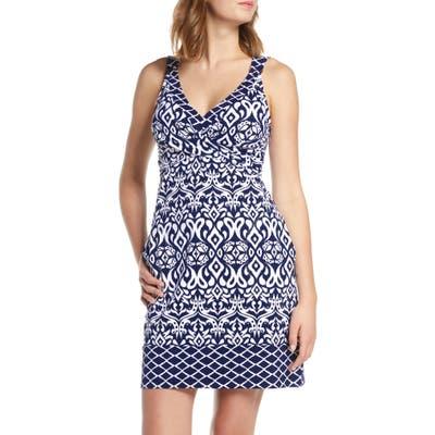 Tommy Bahama Ikat Diamond Cover-Up Dress, Blue