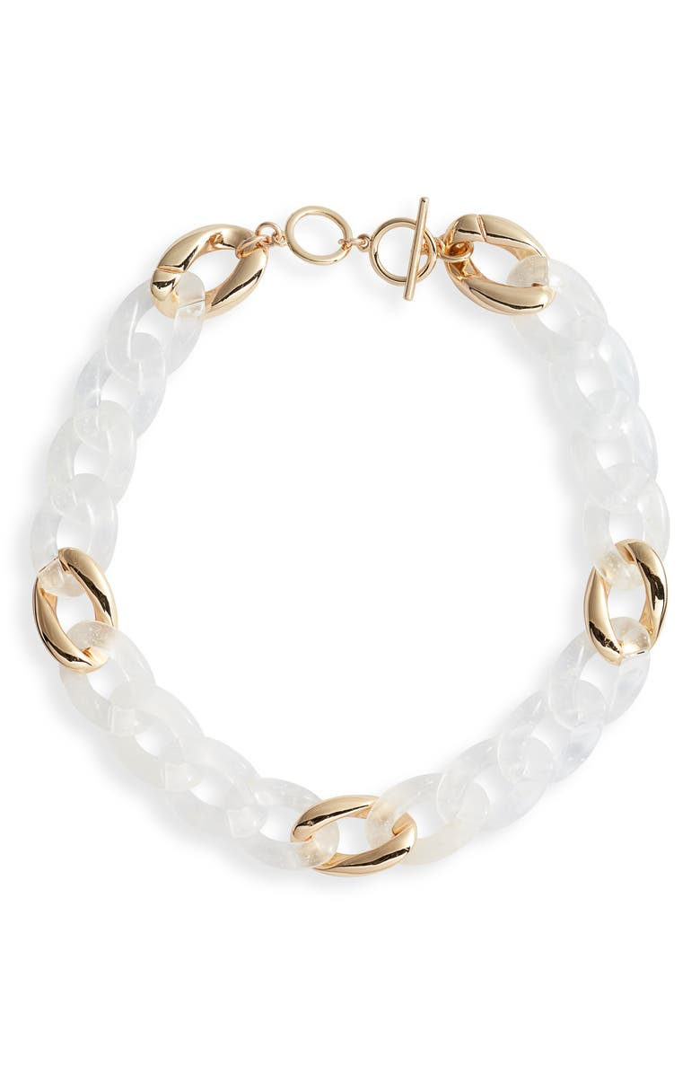 HALOGEN<SUP>®</SUP> Resin Chain Link Collar Necklace, Main, color, 100
