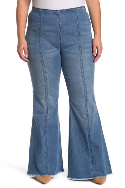 Image of 14TH PLACE High Waist Flare Leg Jeans