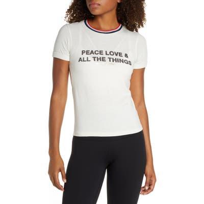 Spiritual Gangster Peace Slim Gym Tee, White