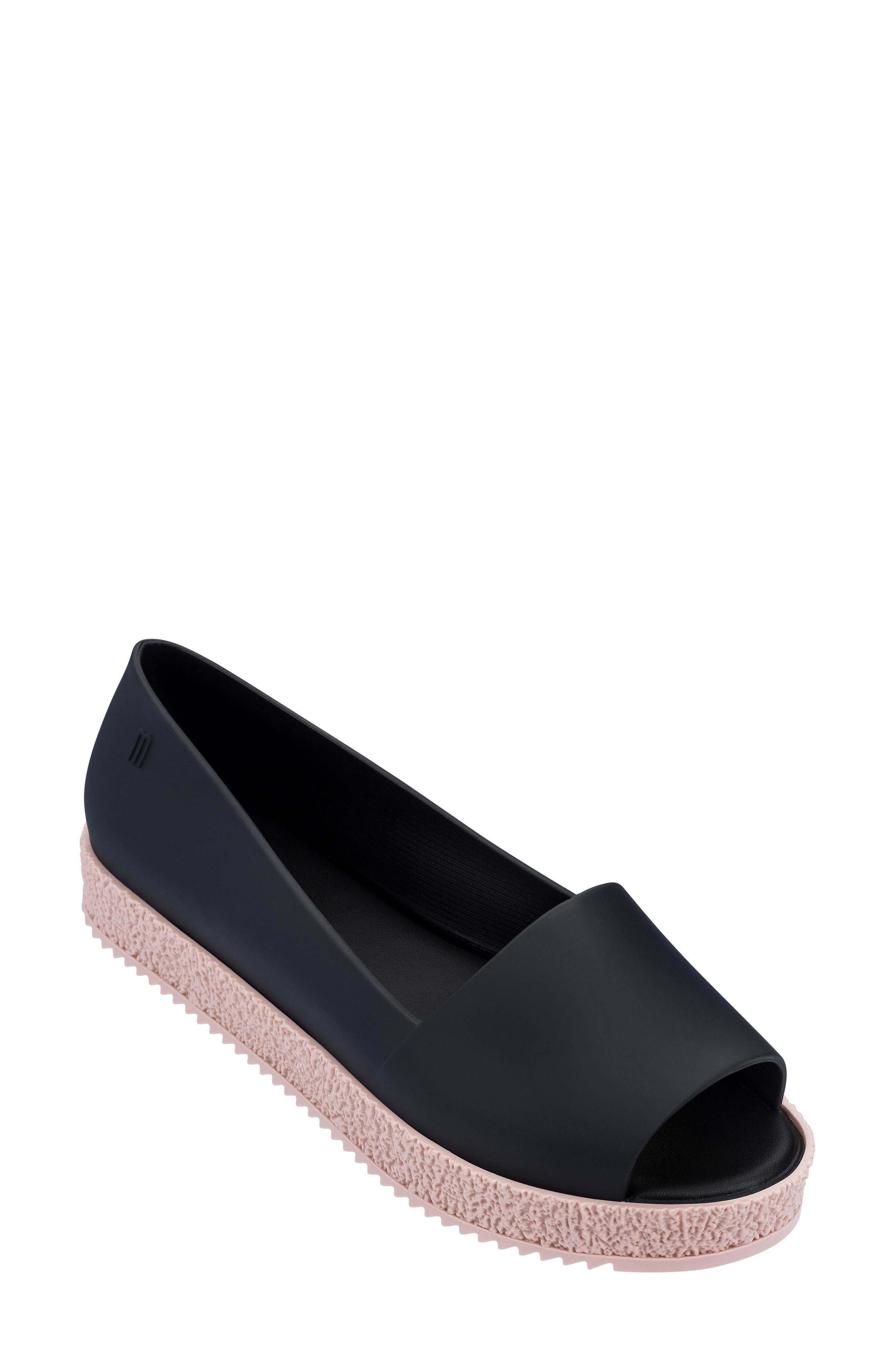 Melissa Puzzle Open Toe Slip-On Wedge, Pink