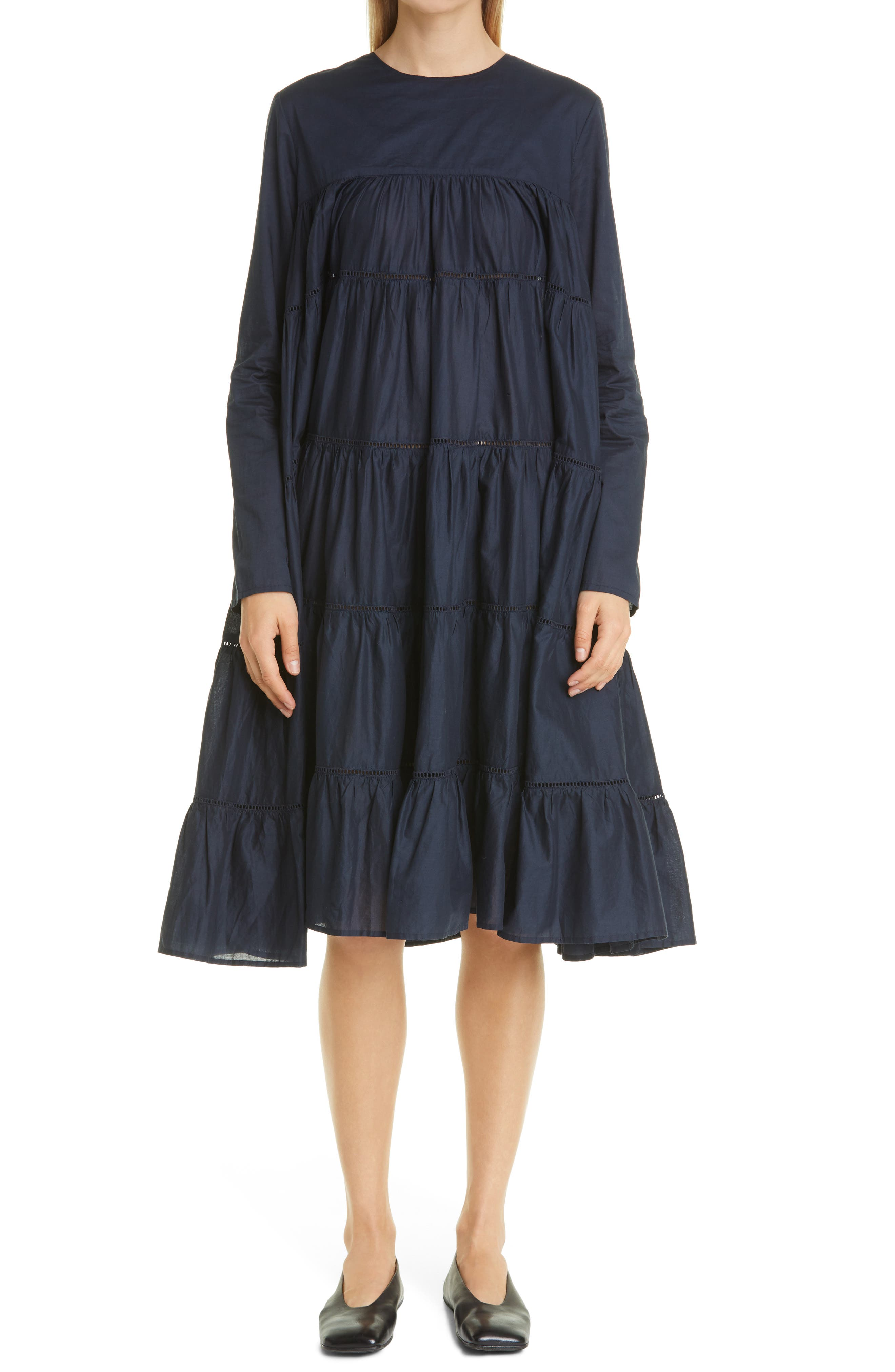 Essaouira Tiered Long Sleeve Dress