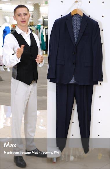 Jay Trim Fit Plaid Wool Suit, sales video thumbnail