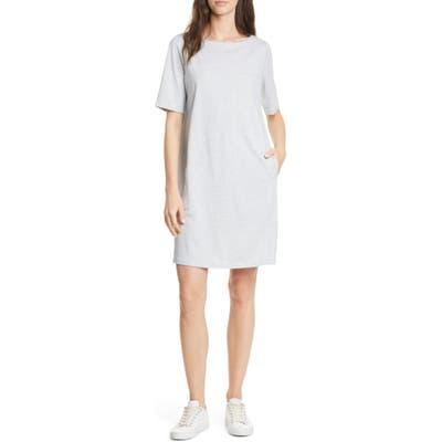 Eileen Fisher Organic Cotton Blend Shift Dress, White