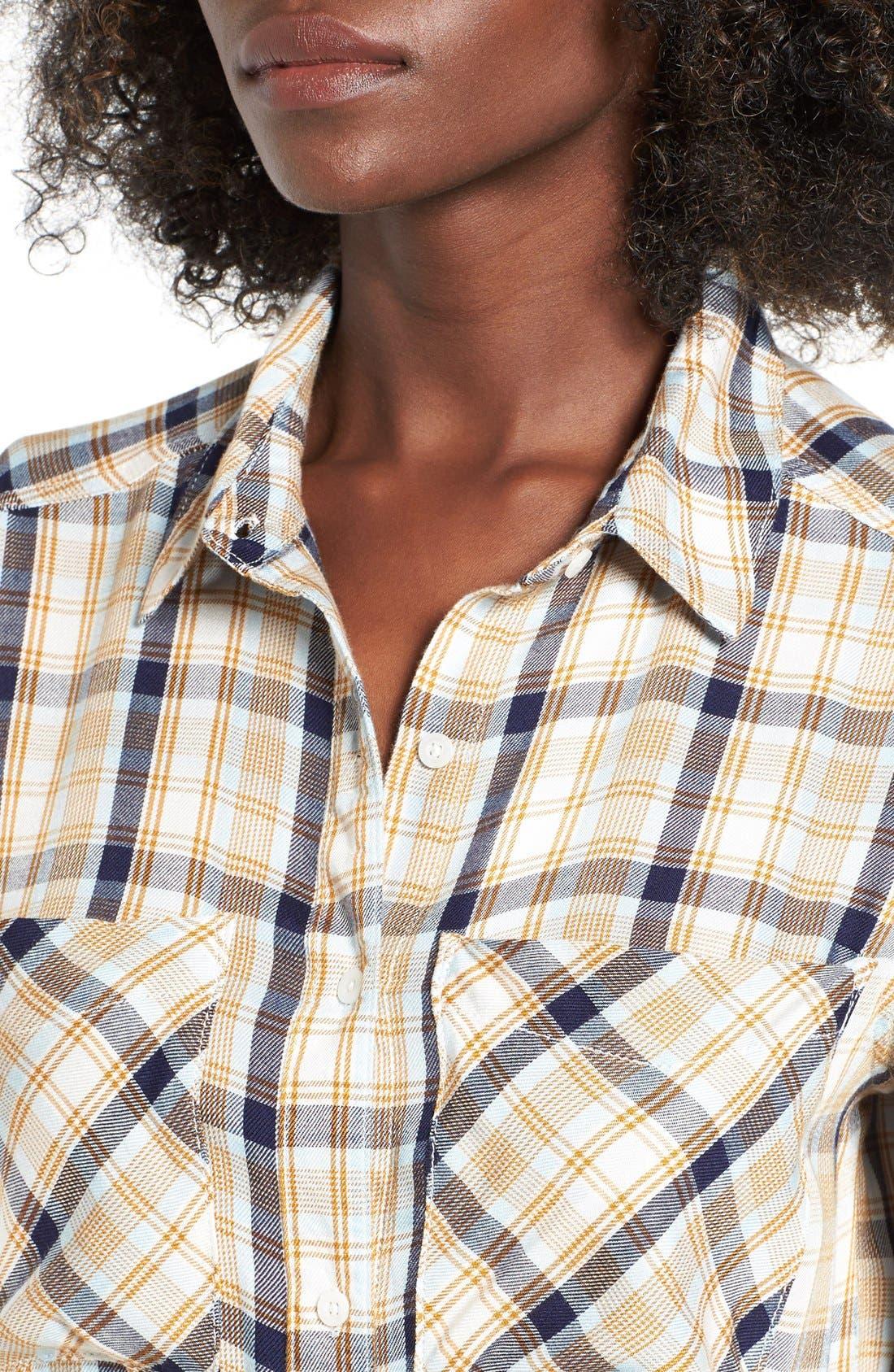 ,                             Plaid Tunic Shirt,                             Alternate thumbnail 44, color,                             900