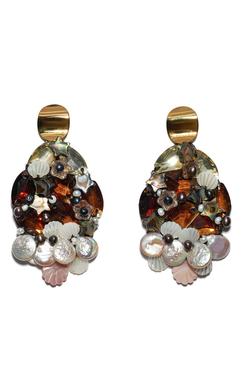 LIZZIE FORTUNATO Mediterranean Reflection Earrings, Main, color, 600