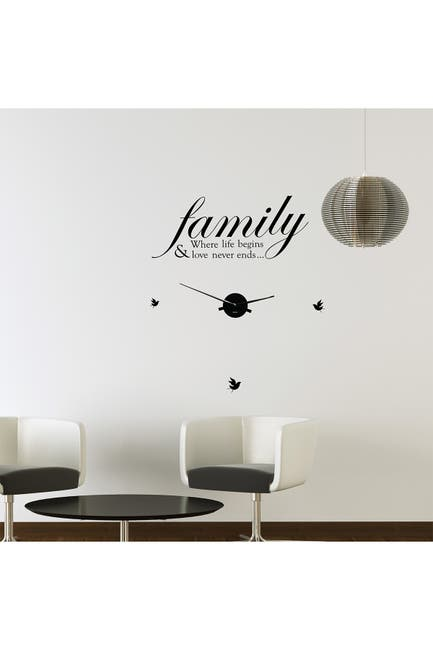 Image of WalPlus Family Life Quote Wall Clock