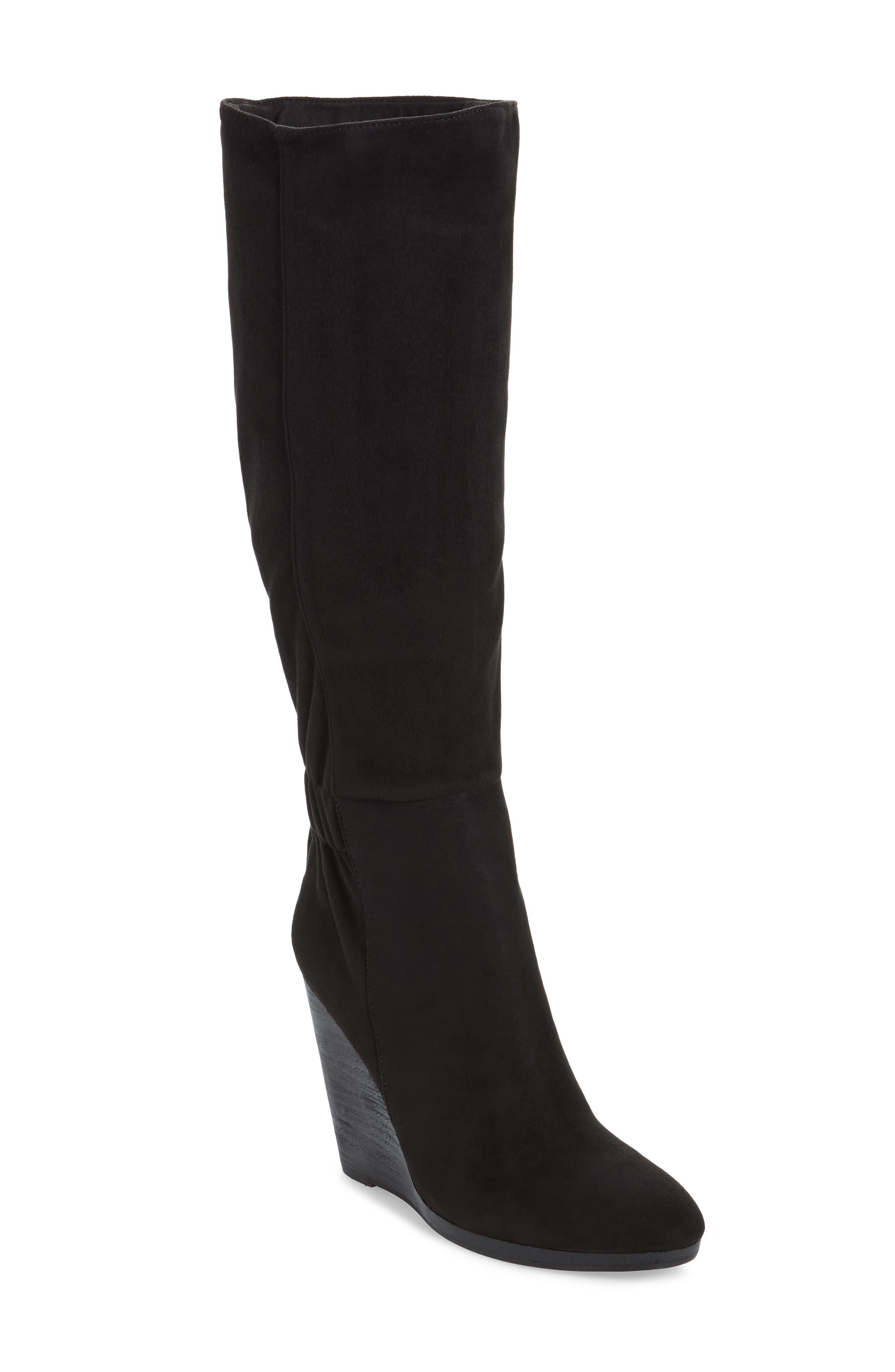Charles By Charles David Hampton Wedge Boot- Black