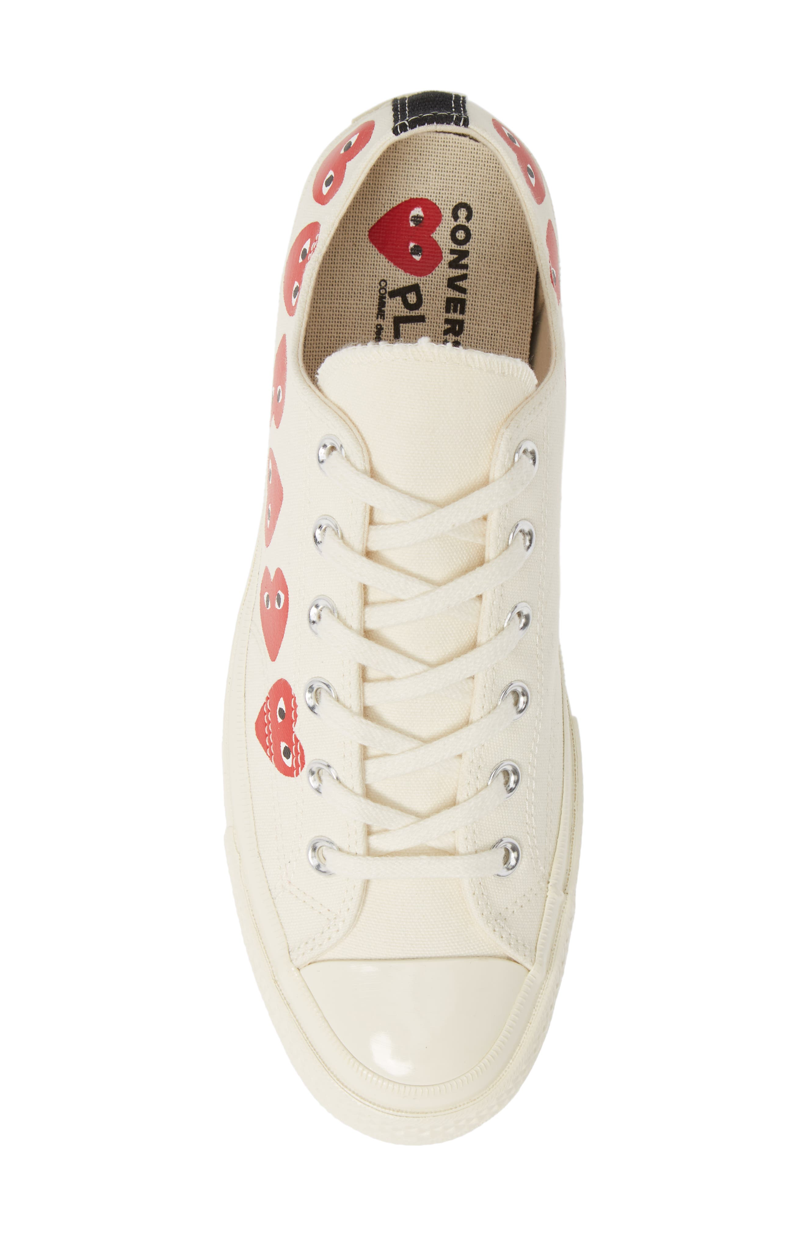,                             x Converse Chuck Taylor<sup>®</sup> Low Top Sneaker,                             Alternate thumbnail 5, color,                             OFF WHITE