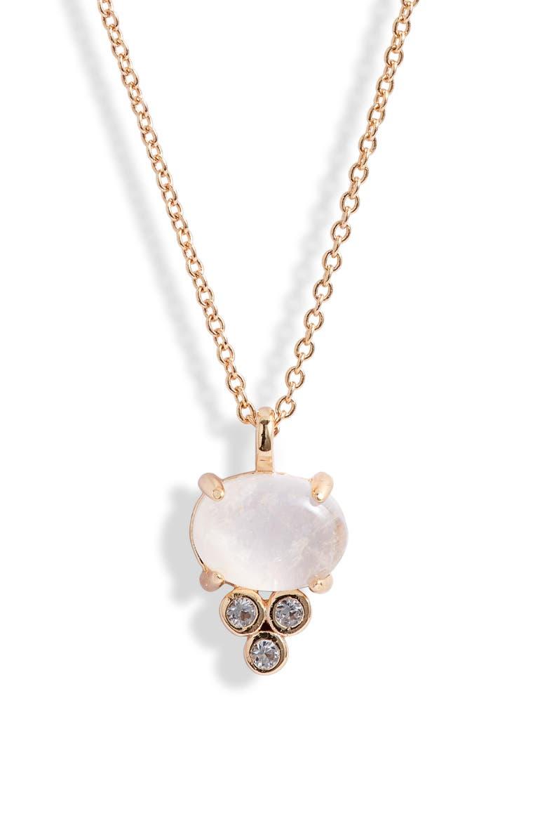 MELANIE AULD Devi Semiprecious Stone Pendant Necklace, Main, color, 710