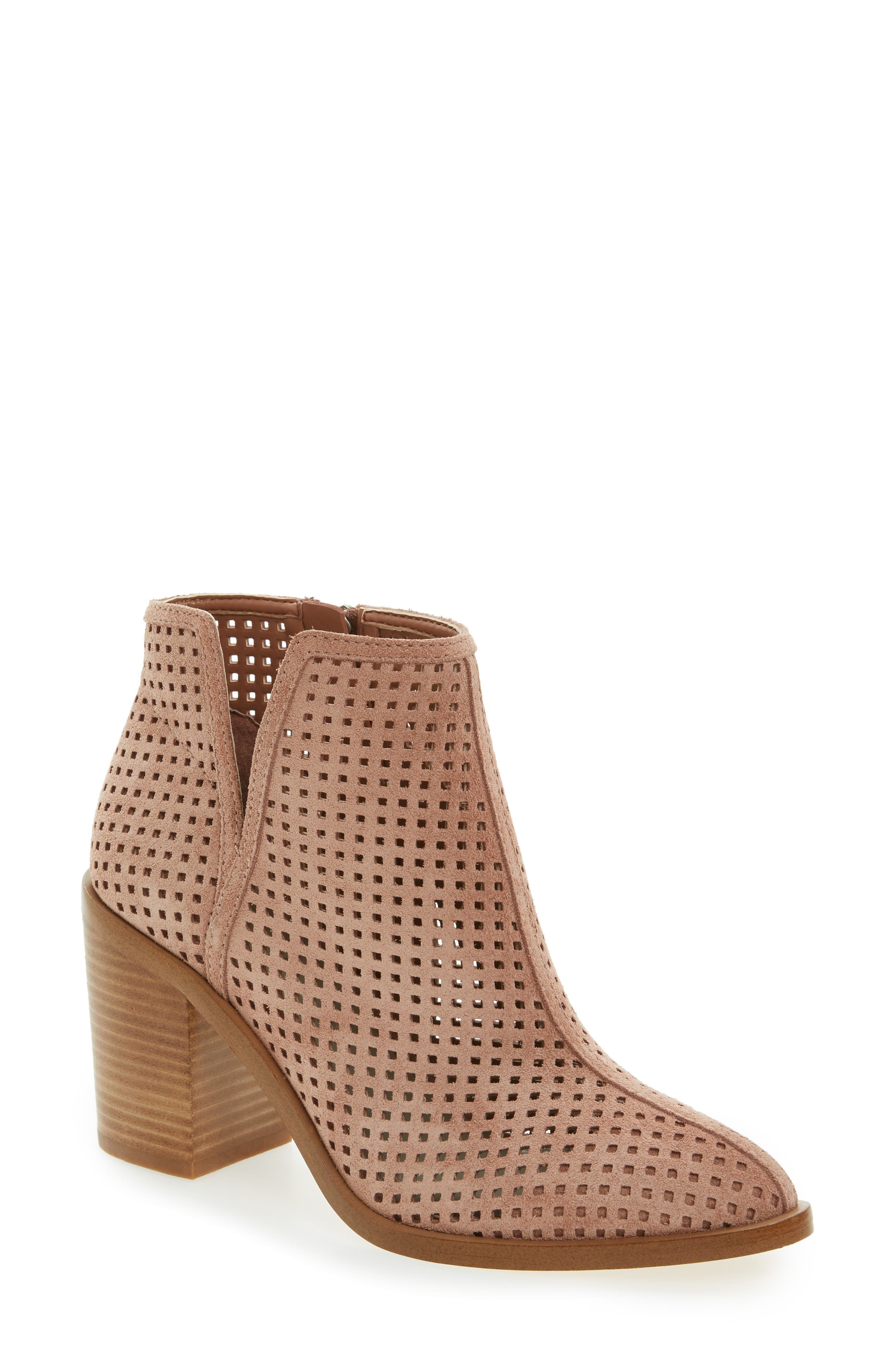 ,                             1. STATE Larocka Perforated Bootie,                             Main thumbnail 9, color,                             690