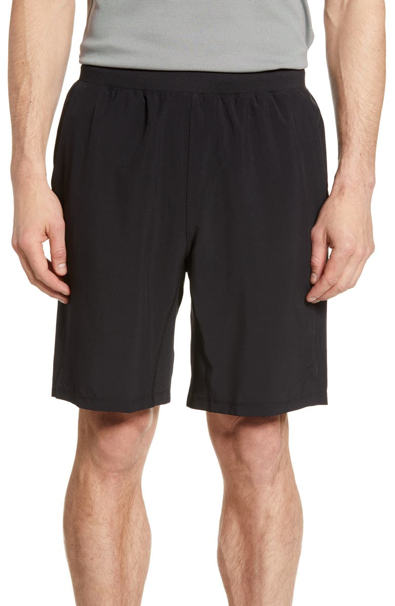 ZELLA Core Stretch Woven Shorts, Main, color, BLACK