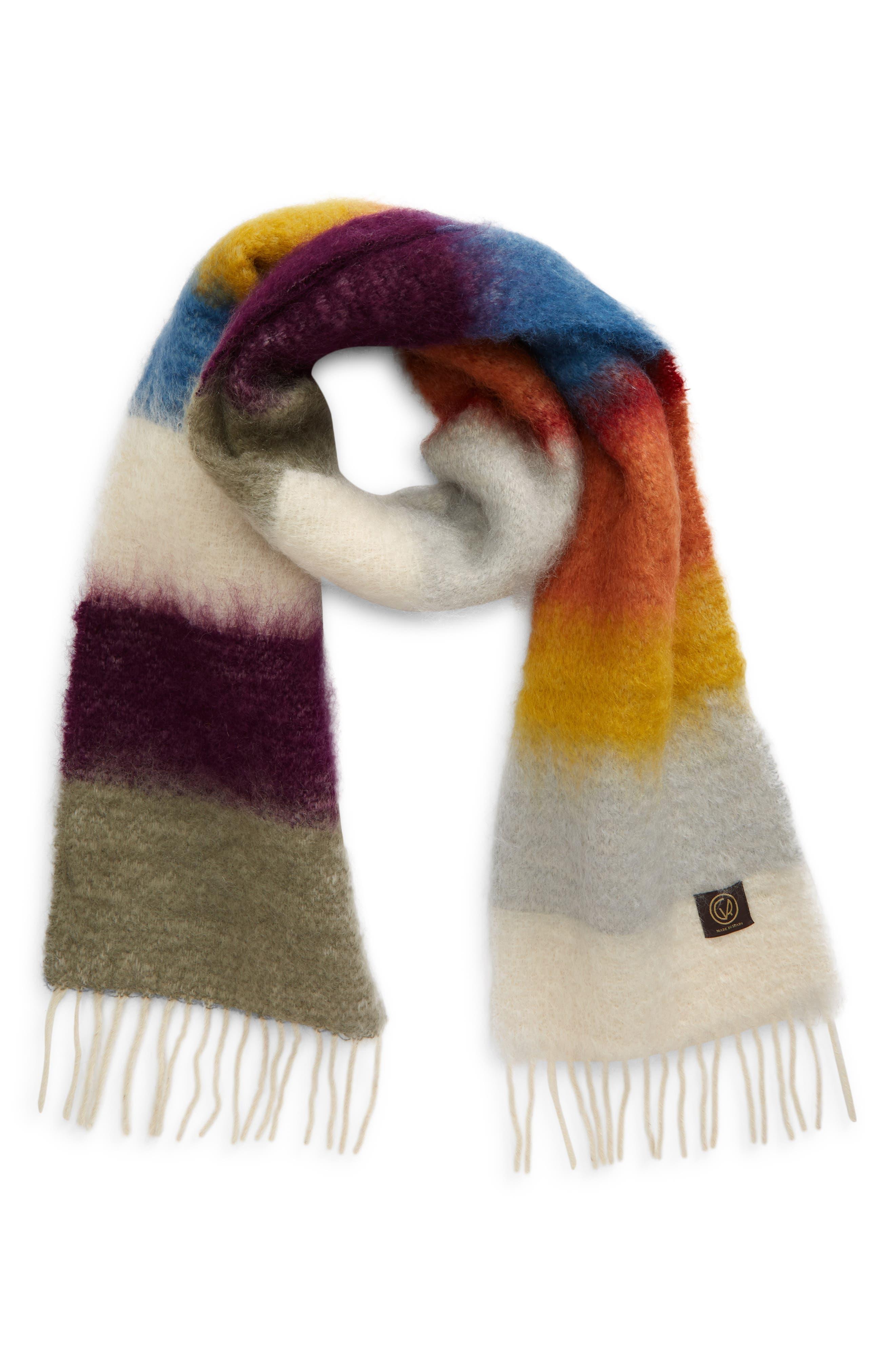 X Ezcaray Matisse Stripe Mohair & Wool Scarf