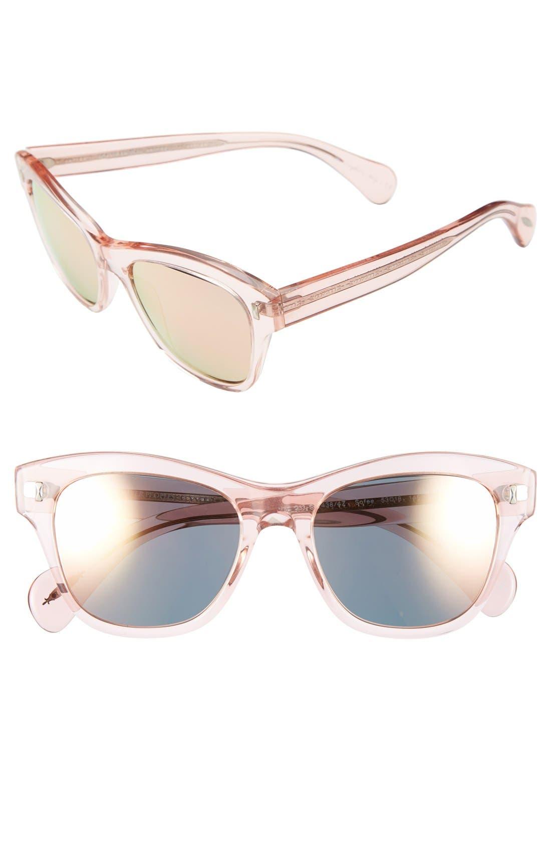 ,                             'Sofee' 53mm Retro Sunglasses,                             Main thumbnail 5, color,                             650