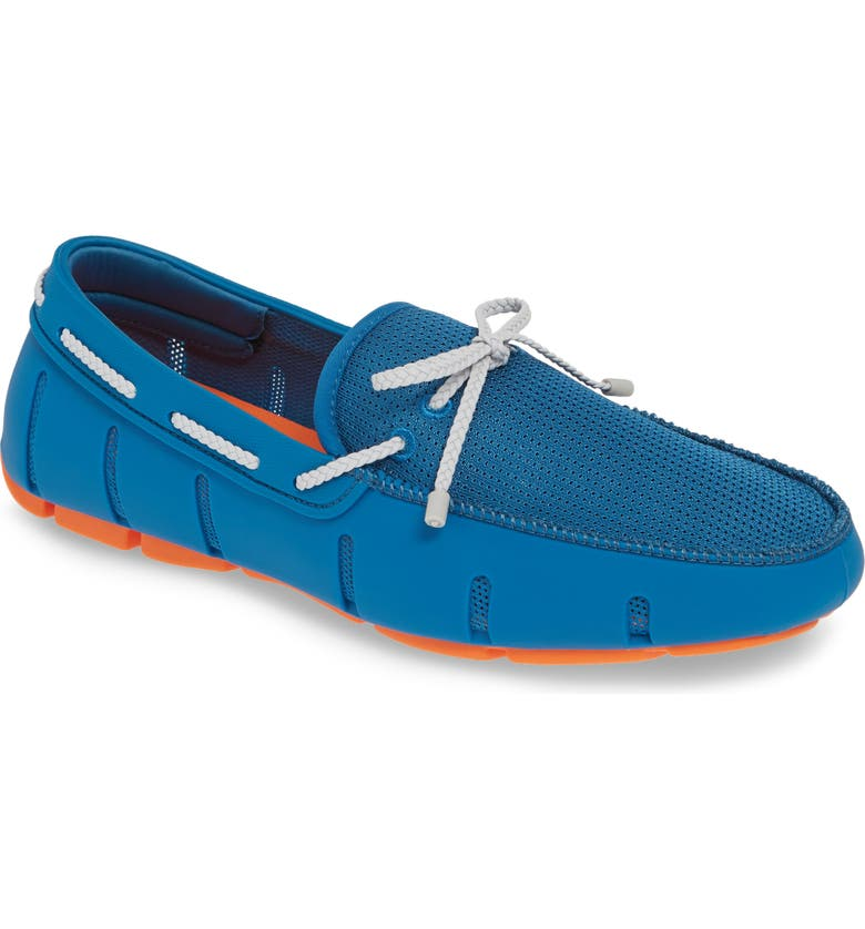 SWIMS Lace Loafer, Main, color, SEAPORT BLUE/ ALLOY