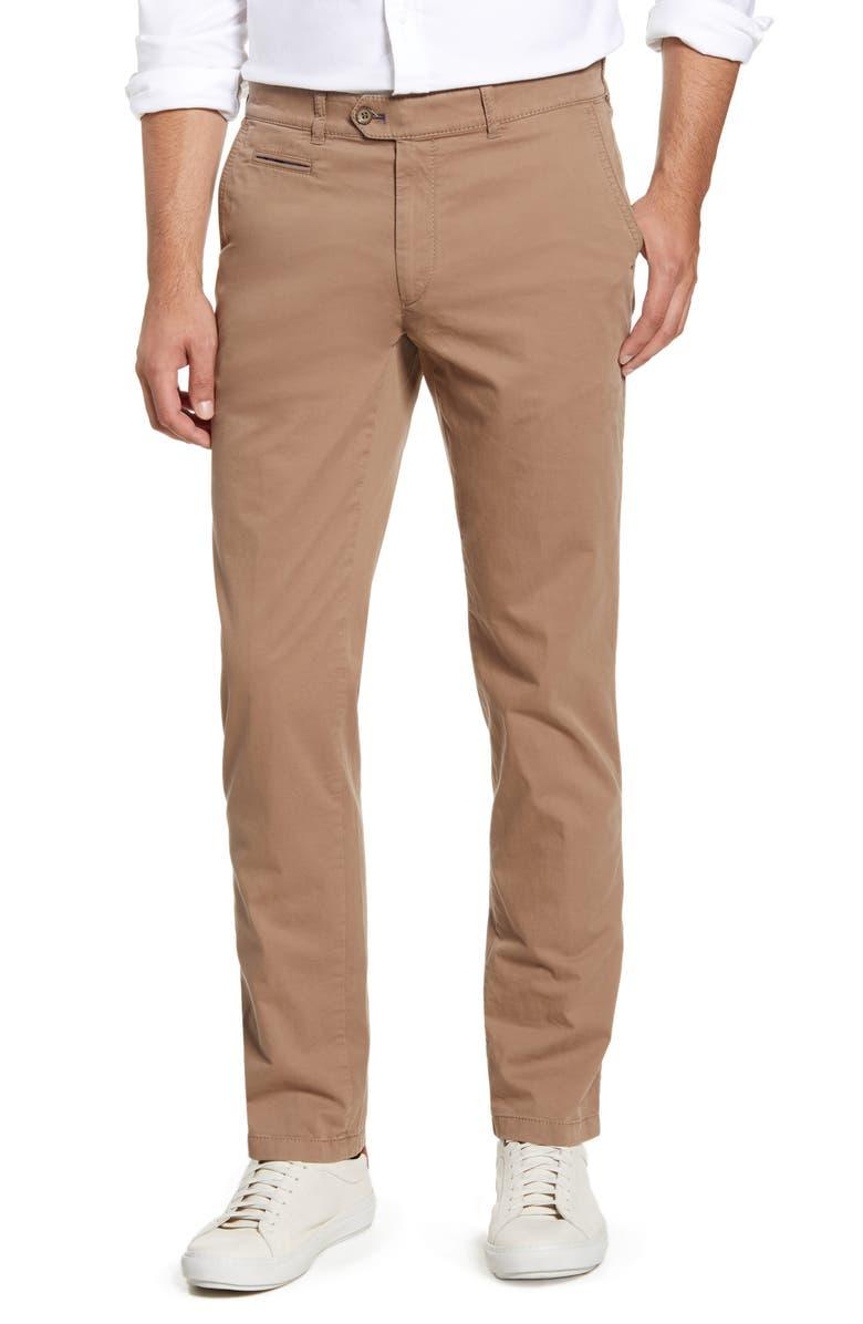 BRAX Everest Straight Leg Dress Pants, Main, color, OAK