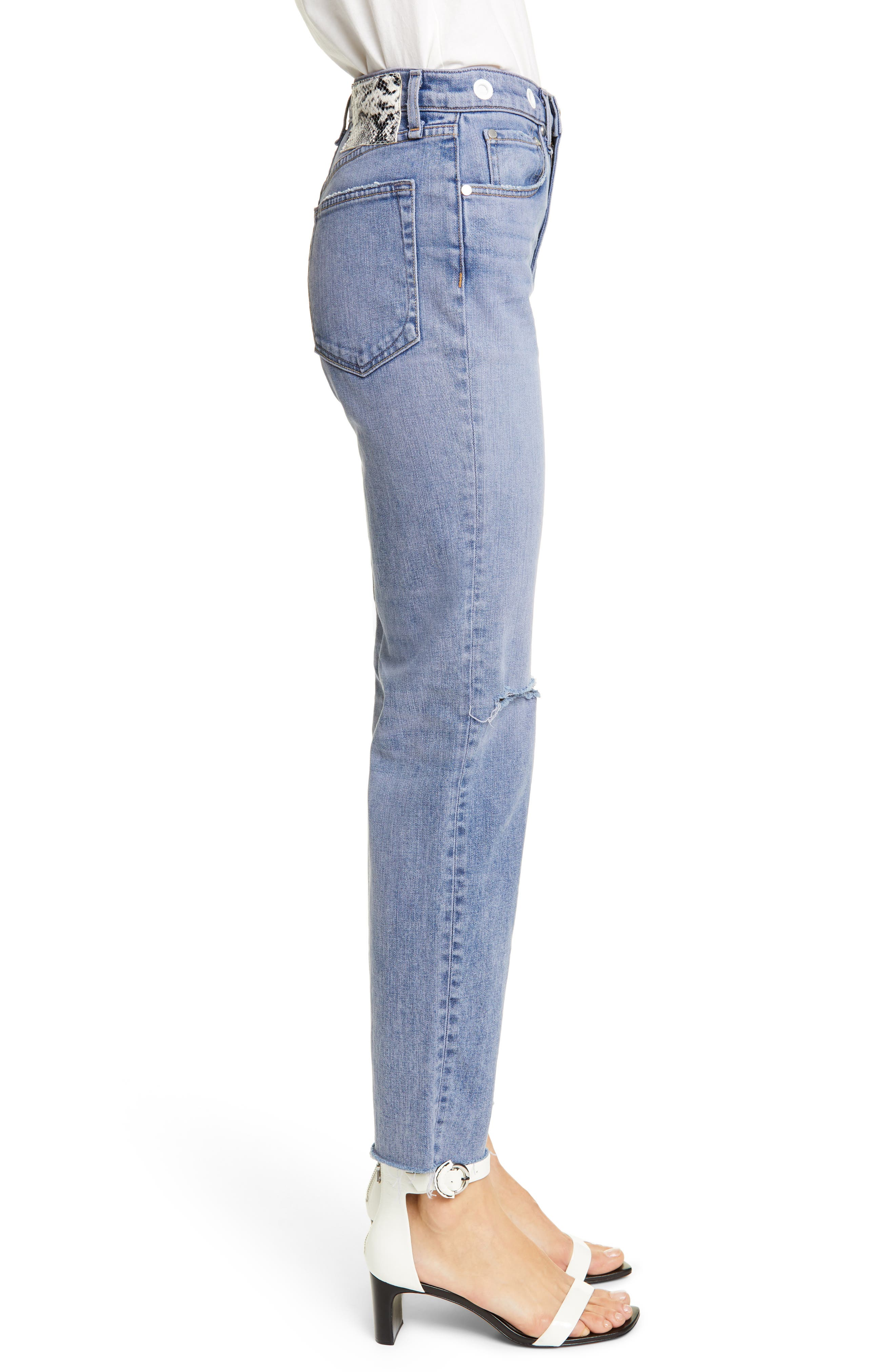 ,                             Maya High Waist Ankle Straight Leg Jeans,                             Alternate thumbnail 4, color,                             TINTED HYDRANGEA