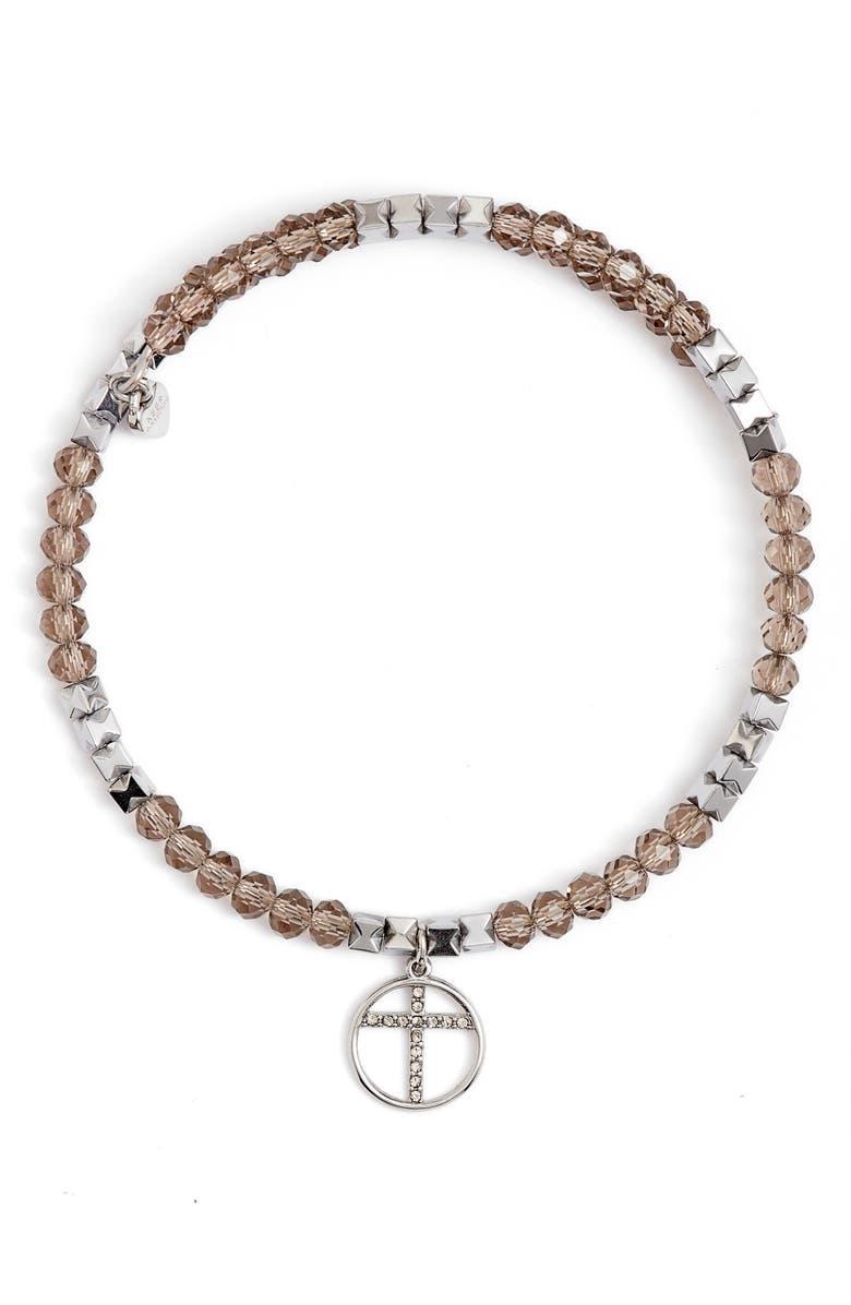 KEEP COLLECTIVE Faith Inspo Wrap Bracelet, Main, color, SILVER