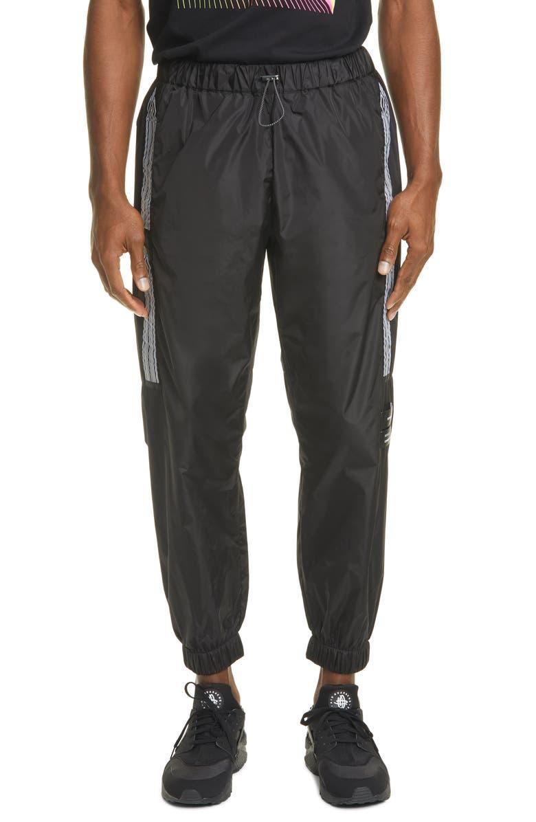 MARCELO BURLON County Tape Jogging Pants, Main, color, BLACK WHITE