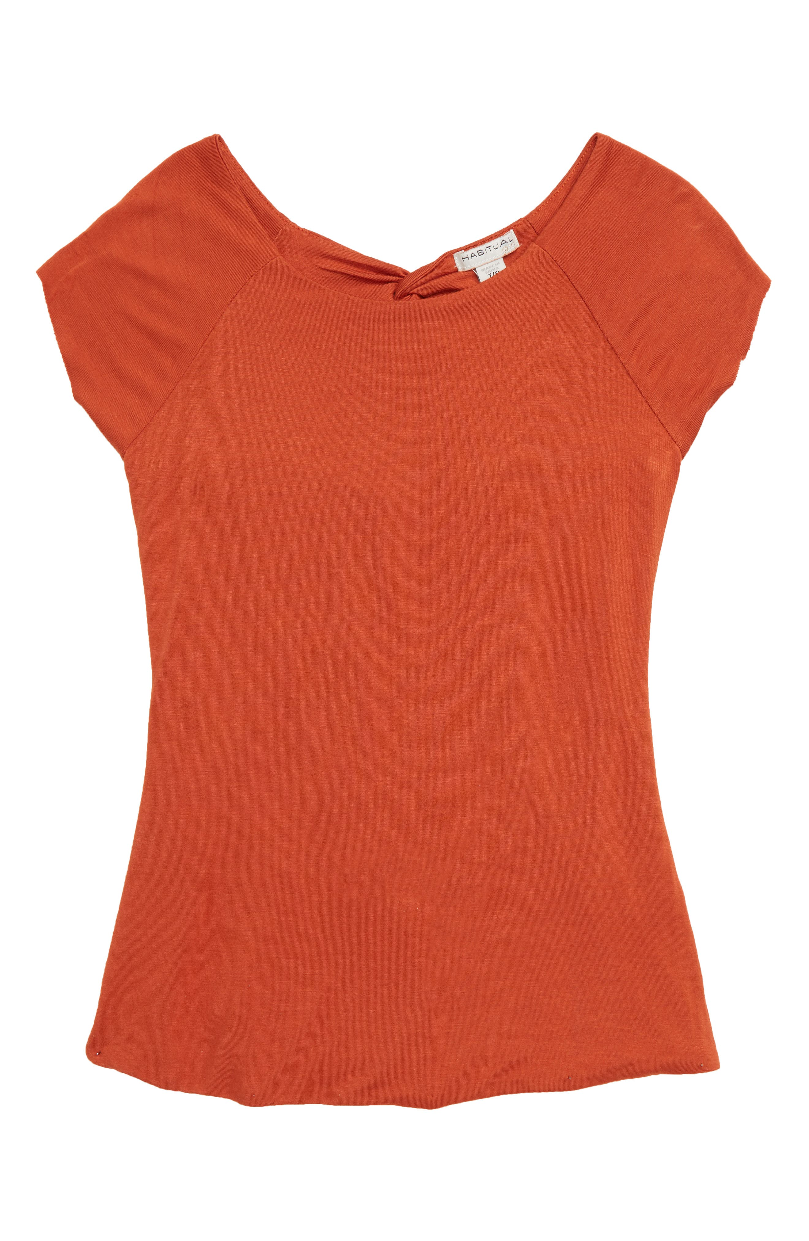 Girls Habitual Gianna Crossback Top Size 12  Orange