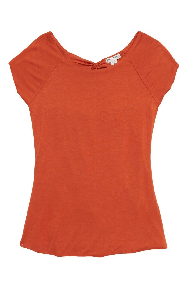 HABITUAL Gianna Crossback Top, Main, color, RUST