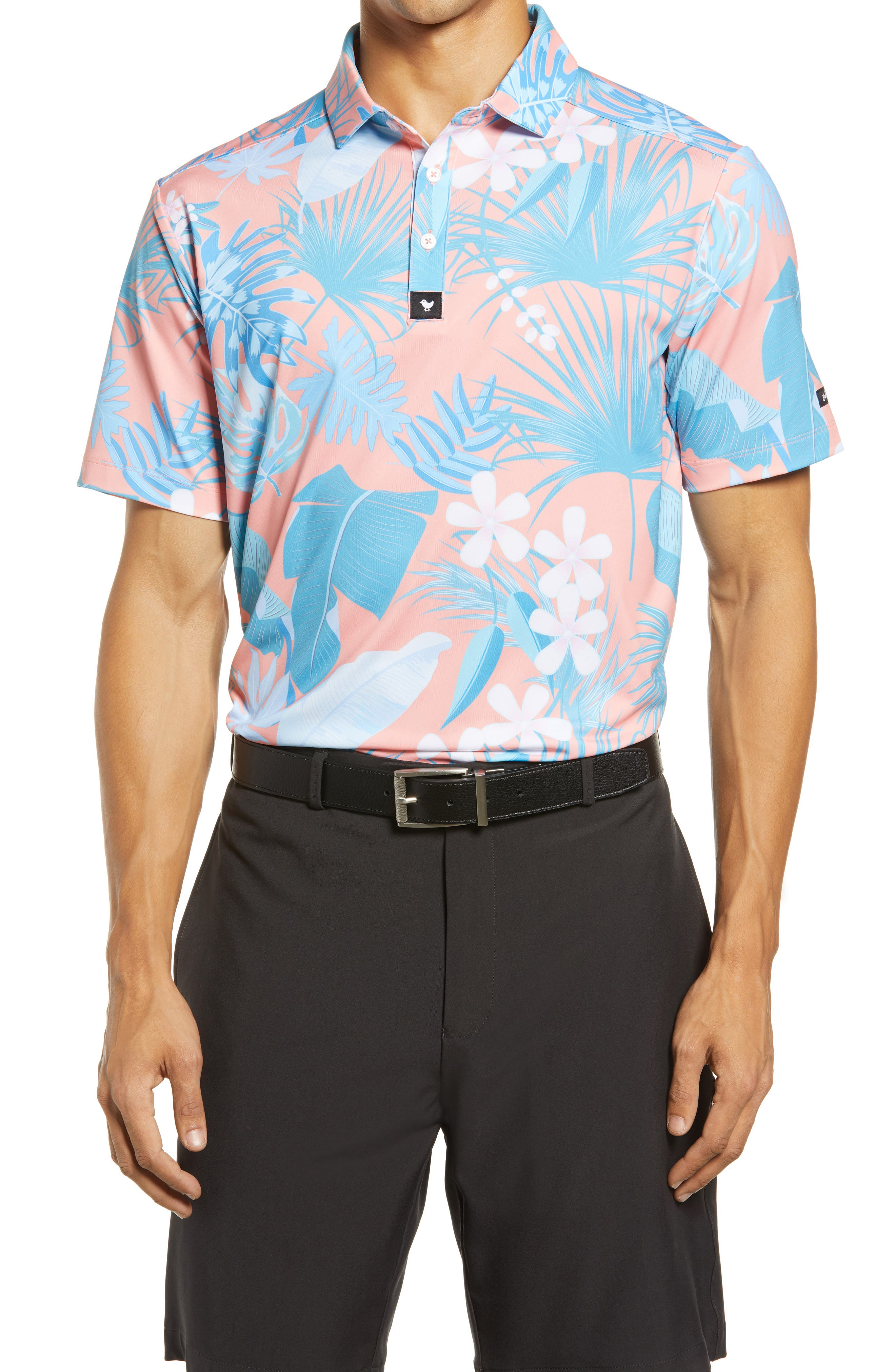 Riviera Floral Performance Golf Polo