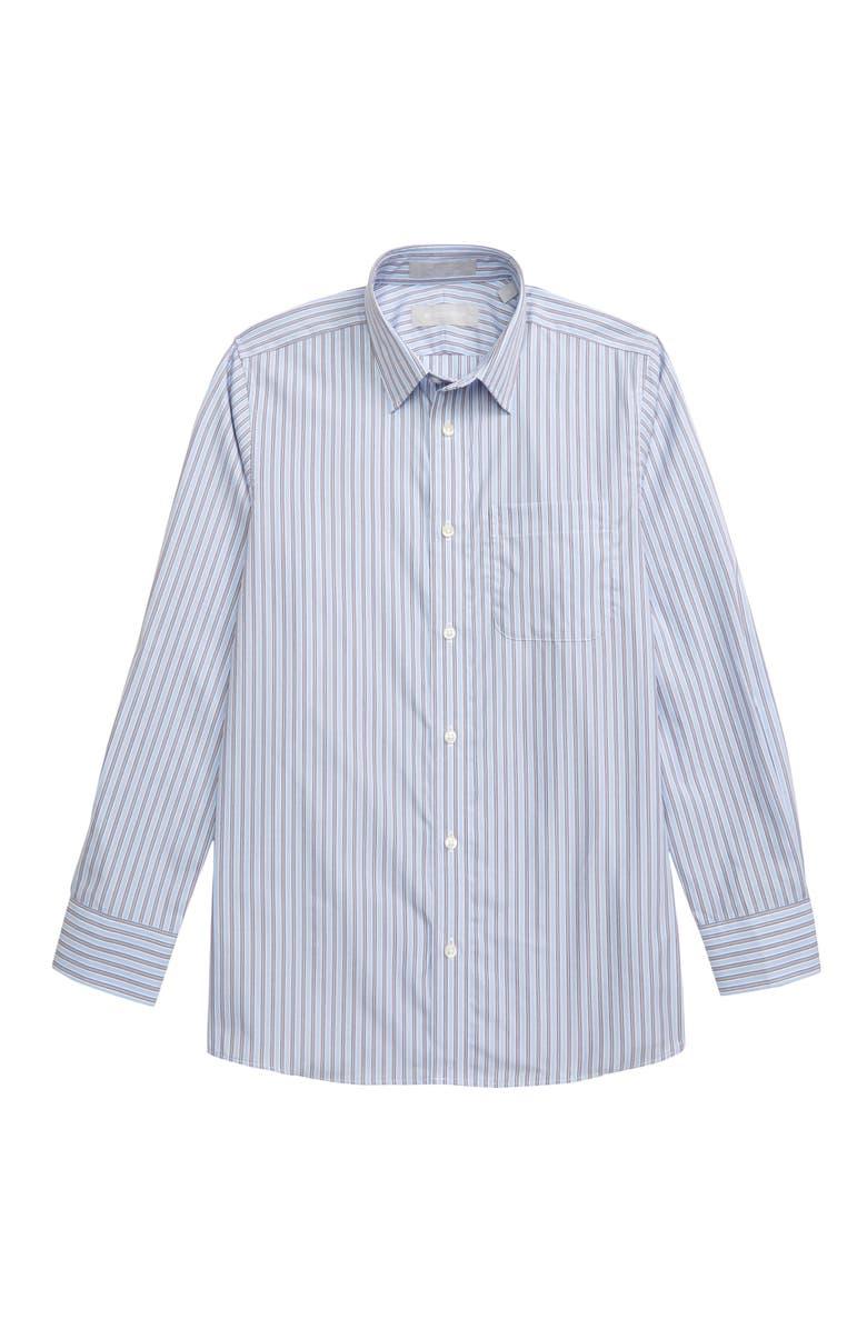 NORDSTROM Bar Stripe Dress Shirt, Main, color, BLUE SERENITY MULTI STRIPE
