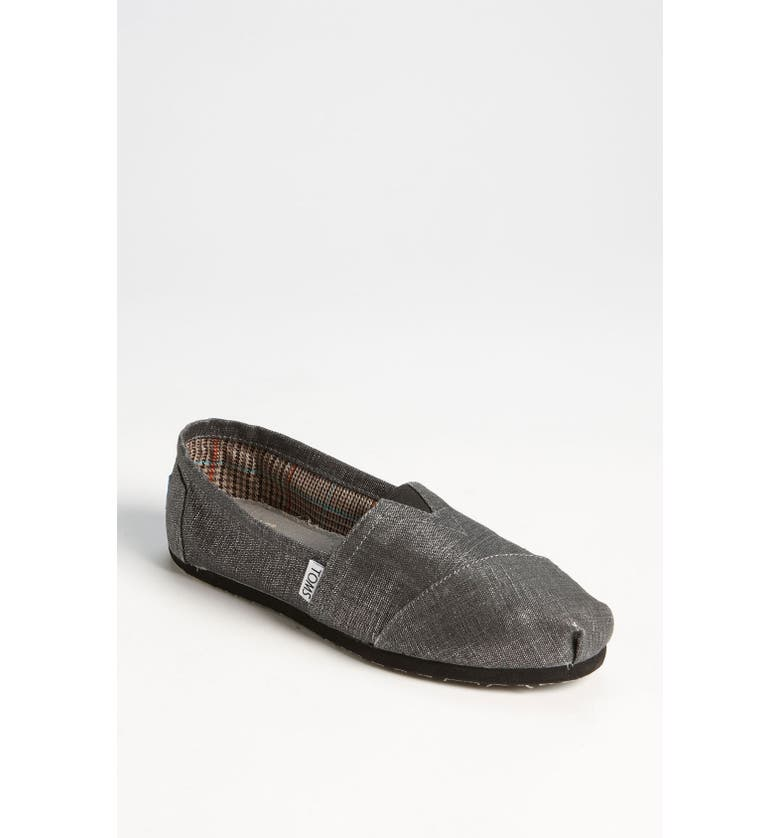 TOMS Metallic Linen Slip-On, Main, color, 040