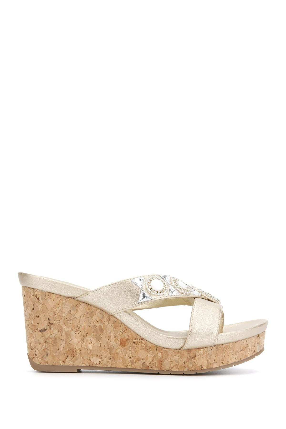 Kenneth Cole Card Glam Thong Toe Esparille In Champagne
